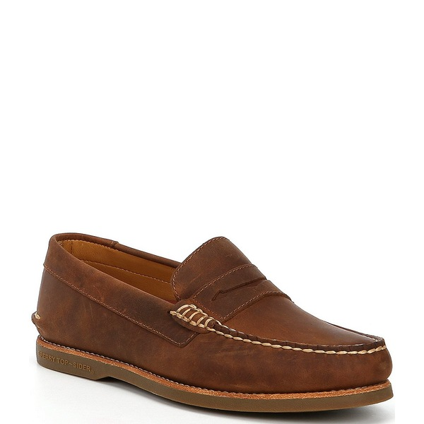 スペリー メンズ スニーカー シューズ Men's Gold Cup Authentic Original Cambridge Penny Loafer Brown