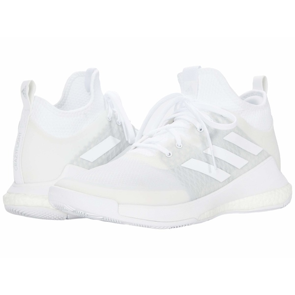 アディダス レディース スニーカー シューズ Crazyflight Mid Footwear White/Footwear White/Footwear White