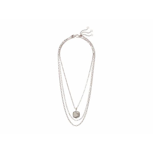 ケンドラスコット レディース ネックレス・チョーカー・ペンダントトップ アクセサリー Davis Multi Strand Necklace Rhodium White Howlite