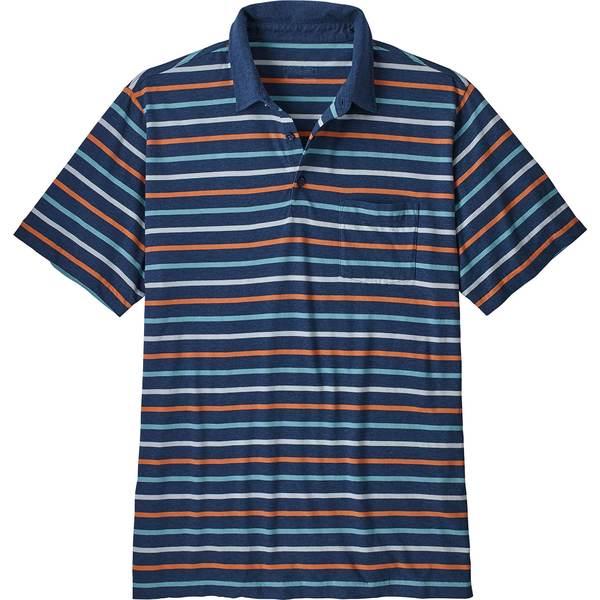 パタゴニア メンズ シャツ トップス Patagonia Men's Squeaky Clean Polo Shirt TerrainMultiStoneBlue