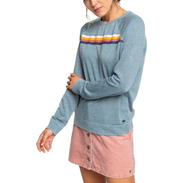 ロキシー レディース パーカー・スウェットシャツ アウター Roxy Women's Wishing Away Crew Fleece Sweatshirt Blue