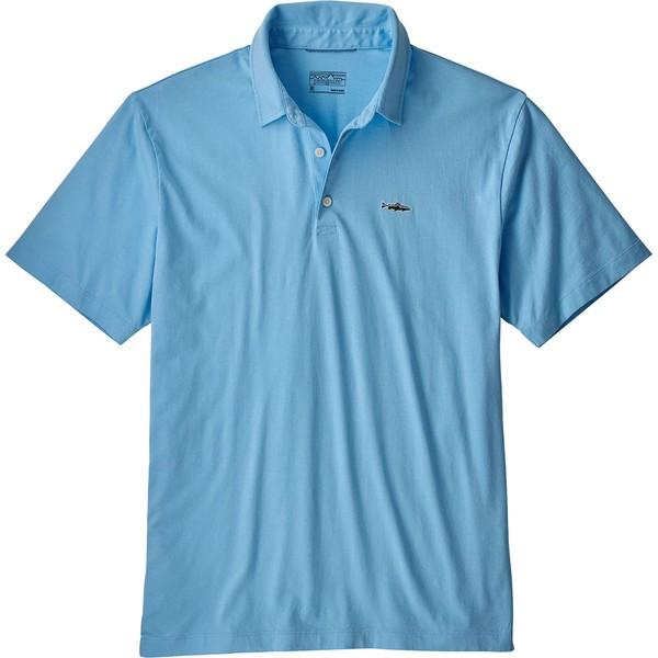 パタゴニア メンズ シャツ トップス Patagonia Men's Trout Fitz Roy Polo Shirt BreakUpBlue