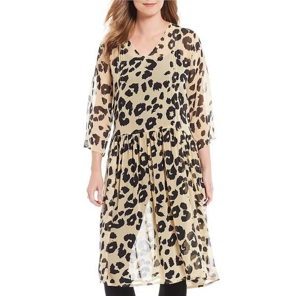 マサイ レディース ワンピース Leopard ワンピース トップス Neoma Leopard Print A-Line Sheer Tunic Tunic Dress Bast, 京都 洛伝統となごみの和雑貨:1ff60dc7 --- officewill.xsrv.jp