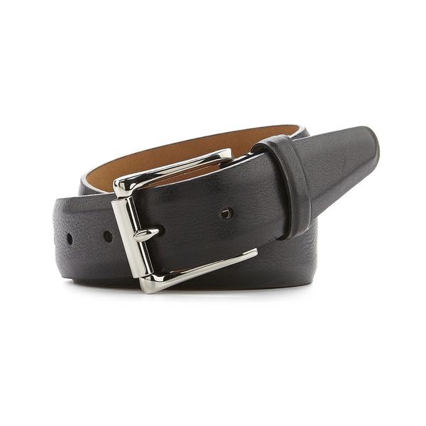 コールハーン メンズ ベルト アクセサリー Milled Edge Leather Belt Black