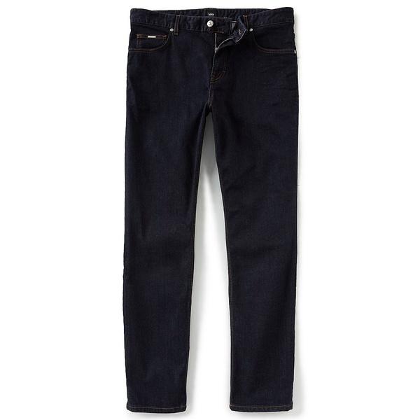 ヒューゴボス メンズ デニムパンツ ボトムス BOSS Hugo Boss Albany Relaxed-Fit Stretch Denim Jeans Navy