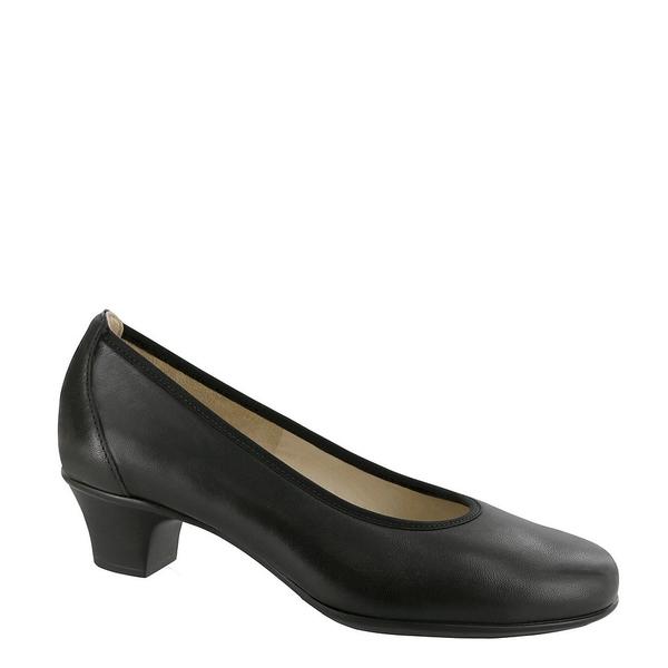 エスエーエス レディース パンプス シューズ Milano Leather Block Heel Pump Black