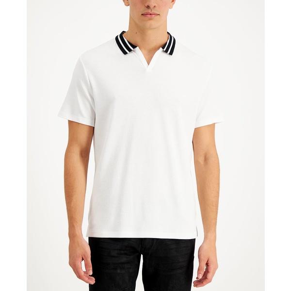 人気カラーの アイエヌシーインターナショナルコンセプト メンズ ポロシャツ トップス Men&39;s Nate Track Knit Polo White Pure, ZAZA STORE aaa1ddd0