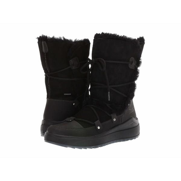 クーガー レディース ブーツ&レインブーツ シューズ Tacoma Waterproof Black Leather/Shearling
