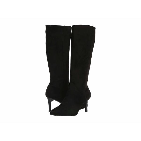 ロックポート レディース ブーツ&レインブーツ シューズ Total Motion Ariahnna Plain Tall Boot Black Faux Suede
