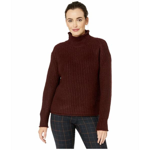 ヴィンスカムート レディース ニット&セーター アウター Long Sleeve Texture Stitch Mock Neck Sweater Port
