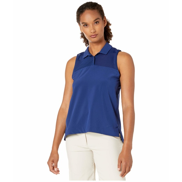 ナイキ レディース シャツ トップス Dry Flex Sleeveless Polo Blue Void/Blue Void