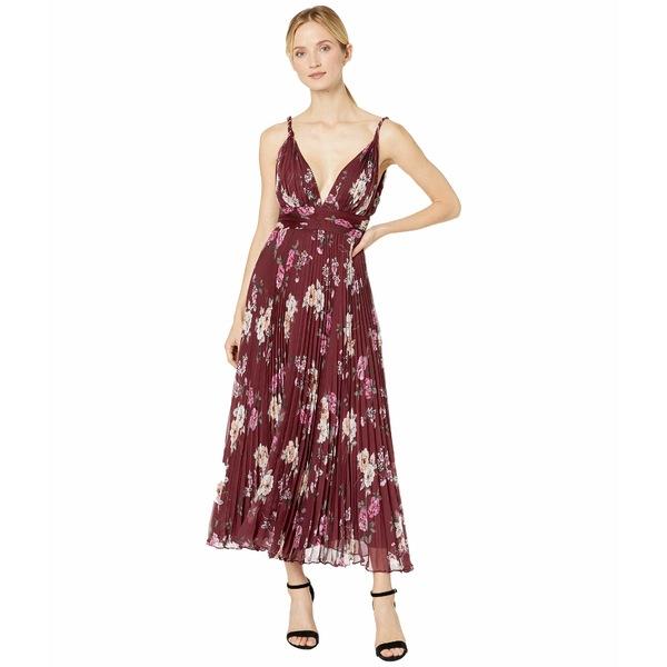ジルスチュアート レディース ワンピース トップス Printed Chiffon Dress Burgundy Multi