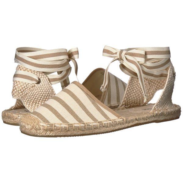 ソルドス レディース サンダル シューズ Classic Stripe Sandal Natural/Tan