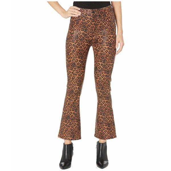 7フォーオールマンカインド レディース デニムパンツ ボトムス High-Waist Slim Kick Faux Pocket in Coated Penny Leopard Black/Penny Leopard