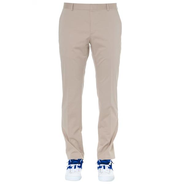 カルバンクライン メンズ カジュアルパンツ ボトムス Calvin Klein Beige Cotton Trousers -