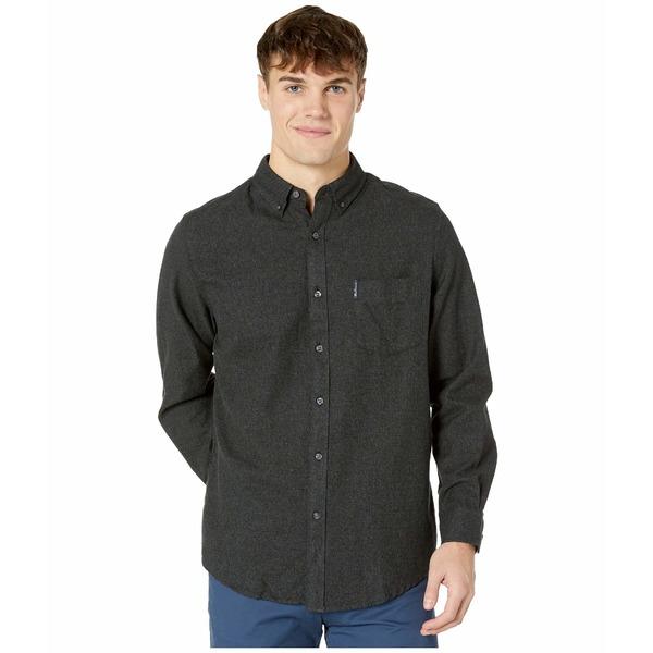 ベンシャーマン メンズ シャツ トップス Long Sleeve Twisted Brushed Shirt Grey