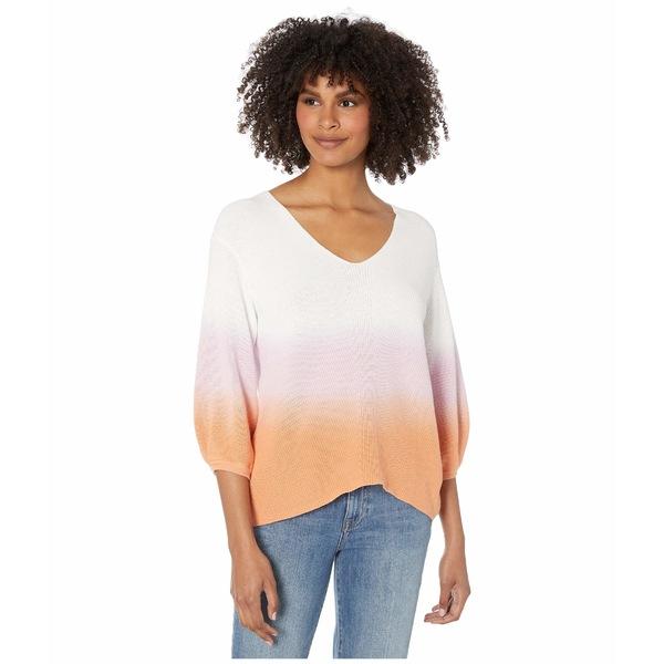 マイケルスターズ レディース ニット&セーター アウター Joanne V-Neck Dip-Dye Pullover Malibu Sweater Peony/Melon