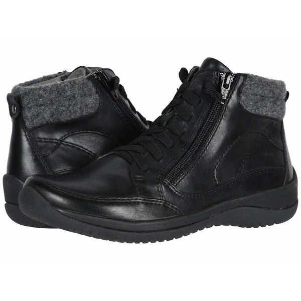 アース レディース ブーツ&レインブーツ シューズ Kara Savant Black Multi Soft Calf/Felt