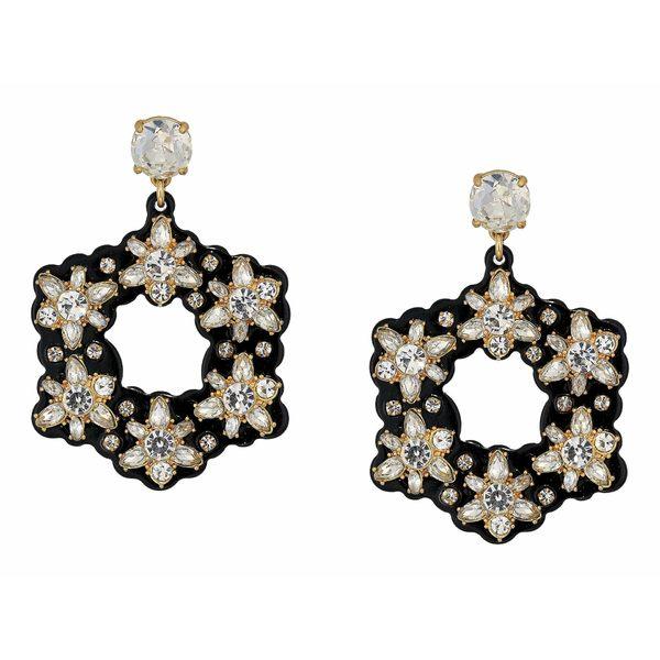 ジェイクルー レディース ピアス&イヤリング アクセサリー Starflower Collage Earrings Crystal