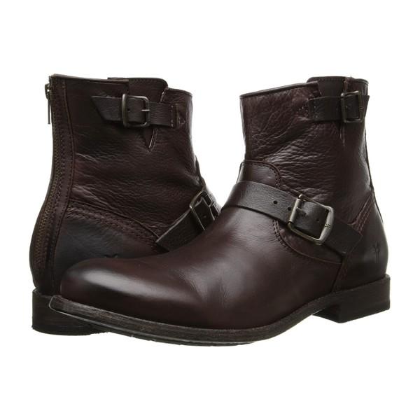 フライ メンズ ブーツ&レインブーツ シューズ Tyler Engineer Dark Brown/Soft Vintage Leather