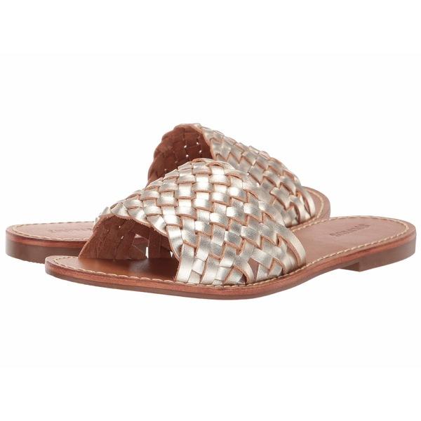 ソルドス レディース サンダル シューズ Woven Slide Sandal Platinum