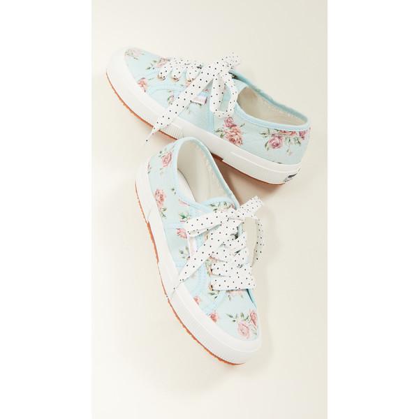 スペルガ レディース スニーカー シューズ x LoveShackFancy 2750 Provence Floral Sneakers Peri