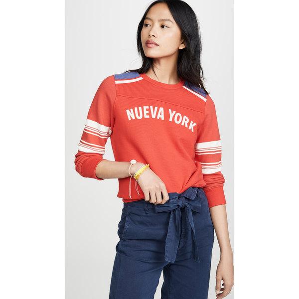 マザー レディース パーカー・スウェットシャツ アウター The 1/2 & 1/2 Koozie Sweatshirt Nueva York Red/White/Blue