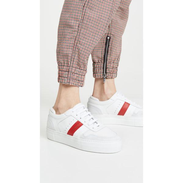 アクセルアリガト レディース スニーカー シューズ Platform Sneakers White/Red