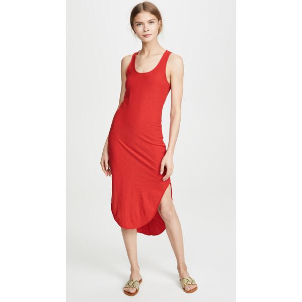 ネーション レディース ワンピース トップス Alina Shirttail Tank Dress Cherry
