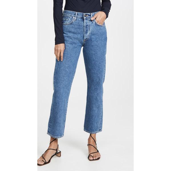 ゴールドサイン レディース デニムパンツ ボトムス The Relaxed Straight Jeans True Blue
