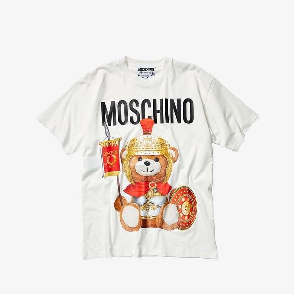 モスキーノ レディース シャツ トップス Roman Soldier Oversized T-Shirt White