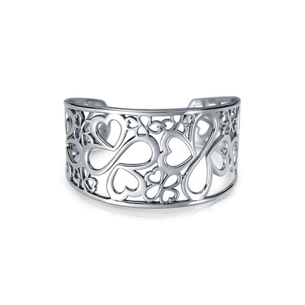 ブリング レディース アクセサリー ブレスレット 別倉庫からの配送 バングル アンクレット SILVER 全商品無料サイズ交換 Clover Silver Sterling Cuff 市場 AYLLU Infinity Heart Bracelet