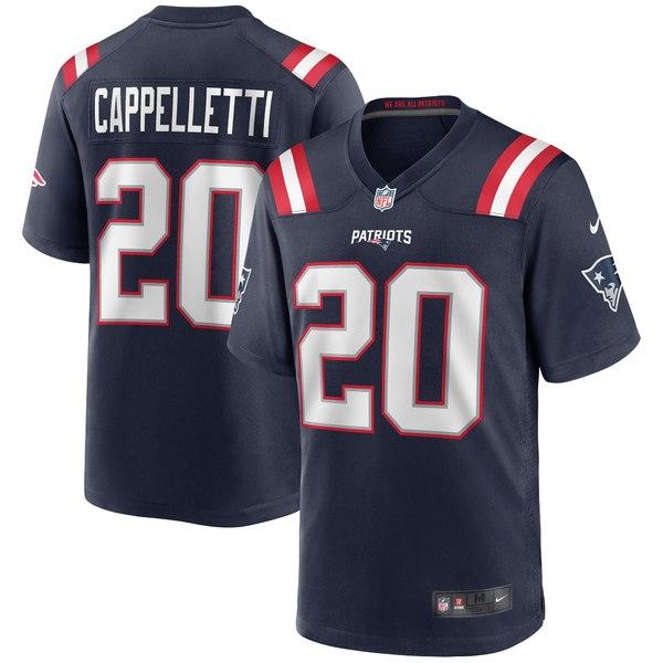 ナイキ メンズ ユニフォーム トップス Gino Cappelletti New England Patriots Nike Game Retired Player Jersey Navy