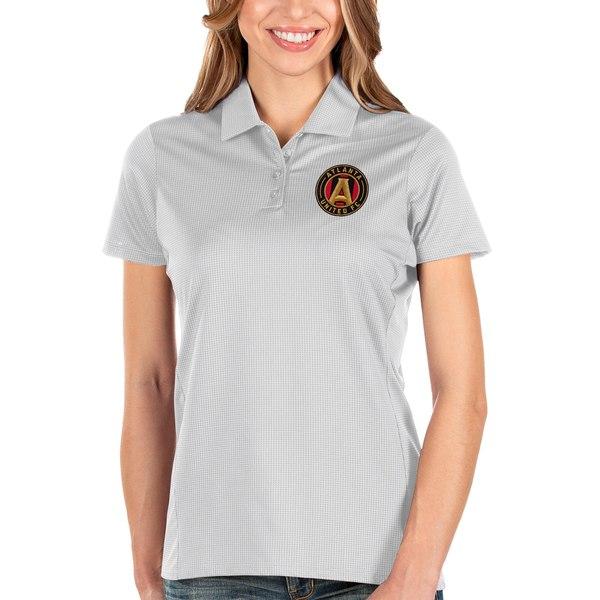 アンティグア レディース ポロシャツ トップス Atlanta United FC Antigua Women's Balance Polo White
