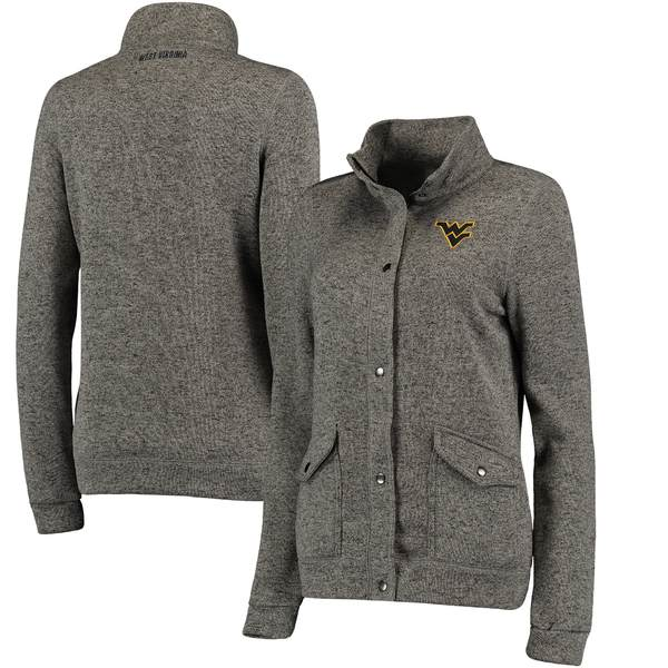 コロシアム レディース ジャケット&ブルゾン アウター West Virginia Mountaineers Colosseum Women's Flyaway FullZip Jacket Charcoal