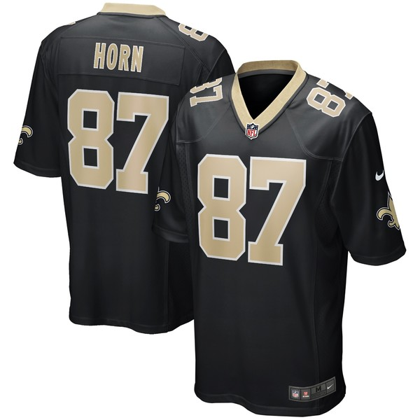 ナイキ メンズ ユニフォーム トップス Joe Horn New Orleans Saints Nike Game Retired Player Jersey Black