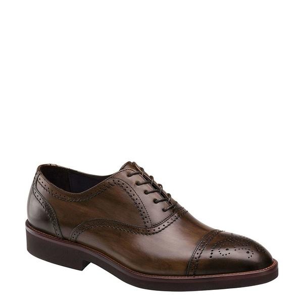 ジョンストンアンドマーフィー メンズ ドレスシューズ シューズ Collection Men's Ridgeland Cap Toe Oxford Brown