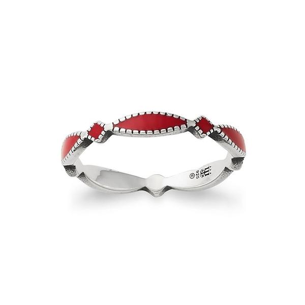 ジェームスアベリー レディース リング アクセサリー Red Enamel Cordoba Stacker Ring Sterling Red