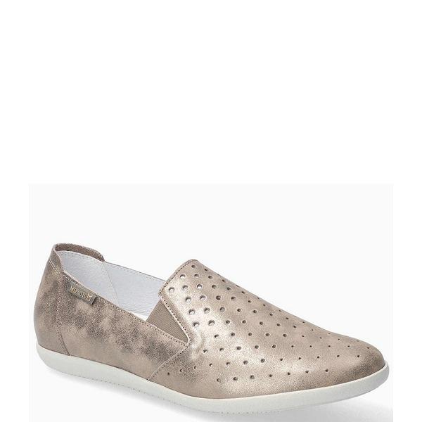 メフィスト レディース サンダル シューズ Flat Perforated Leather Casual Shoes Dark Taupe
