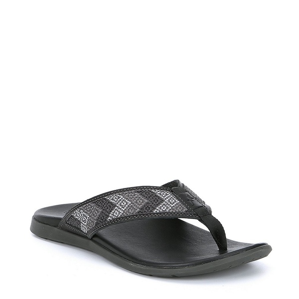 チャコ メンズ サンダル シューズ Men's Marshall Leather Flip Flop Taste Black