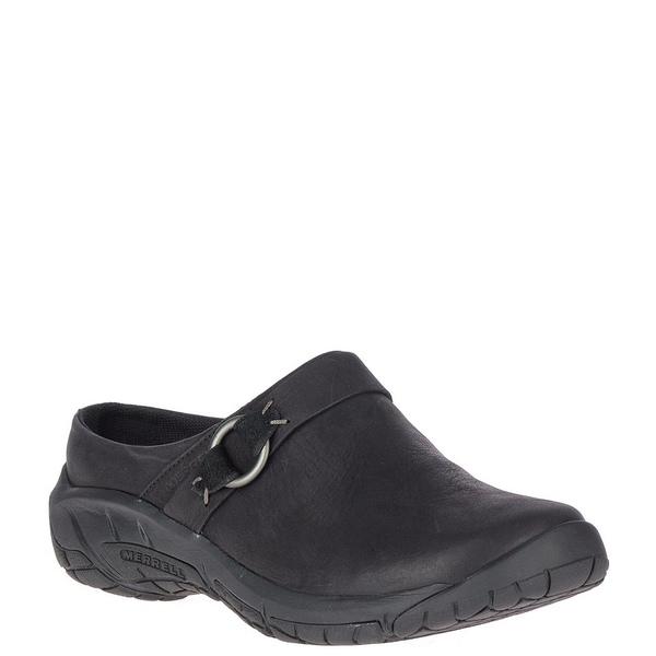 メレル レディース スニーカー シューズ Encore Slide 4 Leather Slip Ons Black