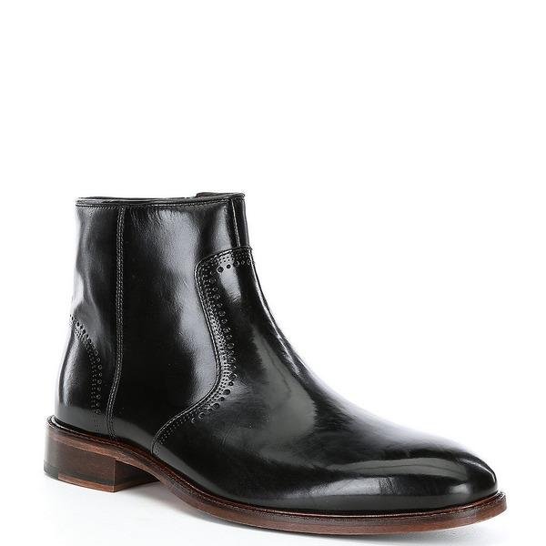 ジョンストンアンドマーフィー メンズ シューズ ブーツ 別倉庫からの配送 レインブーツ Black 全商品無料サイズ交換 Toe Zip Sayer Plain Boots 新作多数 Men's Side