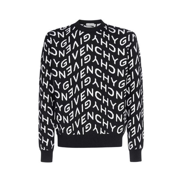 (お得な特別割引価格) ジバンシー メンズ ニット&セーター アウター Givenchy Refracted Logo Jacquard Sweater -, Auggie 1bb7eda2