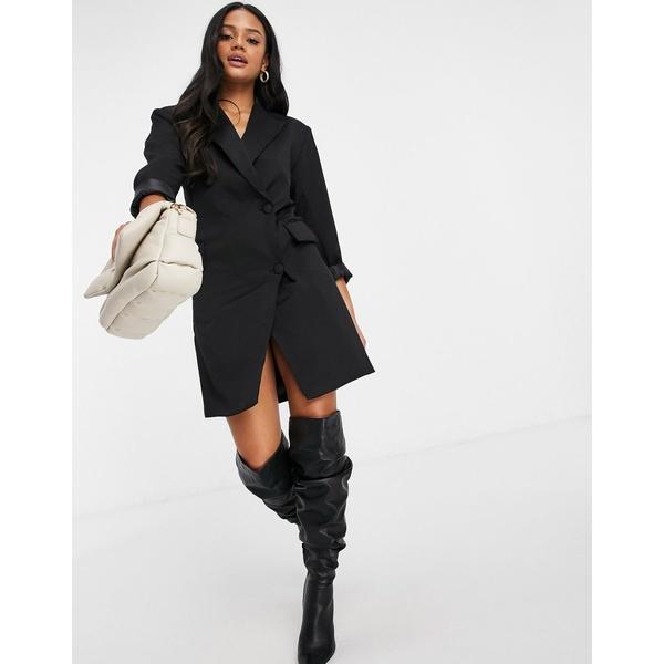 ナーナー レディース トップス ワンピース Black 全商品無料サイズ交換 割引 blazer サービス black NaaNaa dress in
