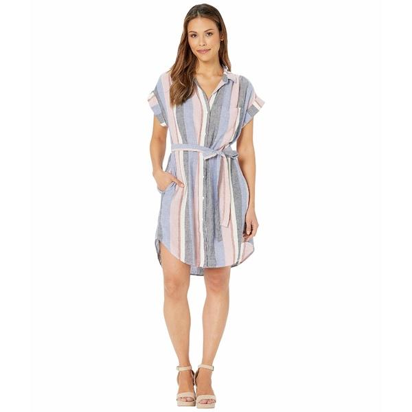 ベラダール レディース ワンピース トップス Cap Sleeve Belted Pocket Dress Multi Stripe