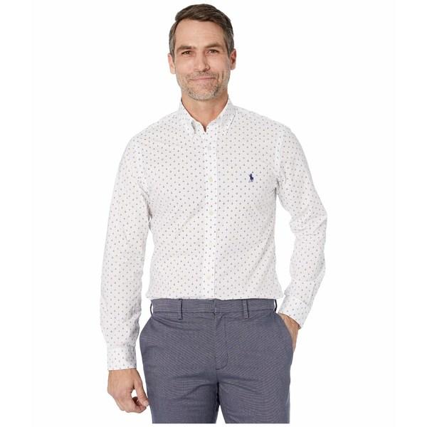 ラルフローレン メンズ シャツ トップス Slim Fit Poplin Shirt Mini Anchor Dot