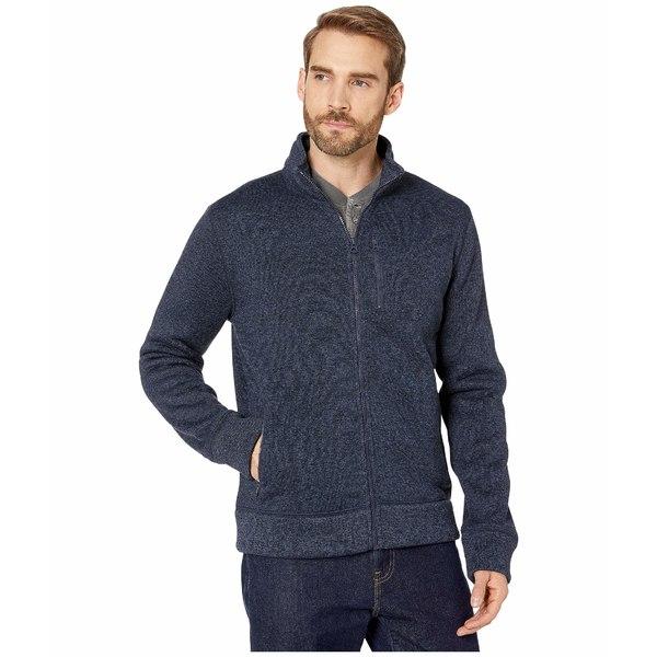 ラッキーブランド メンズ コート アウター Los Feliz Fleece Full Zip Mock Neck Jacket Navy