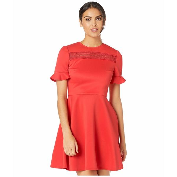 テッドベーカー レディース ワンピース トップス Calizee Lace Insert Skater Dress Red