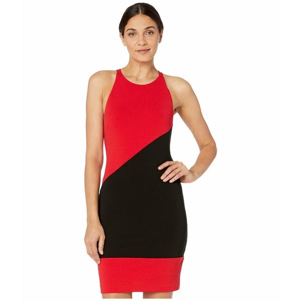 ニコルミラー レディース ワンピース トップス Heavy Jersey X-Back Mini Dress Cherry Red