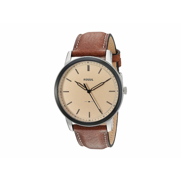フォッシル メンズ 腕時計 アクセサリー Minimalist Three-Hand Watch FS5619 Silver Brown Leather